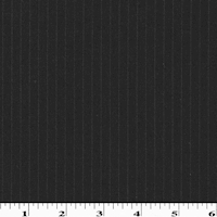 *1 3/4  YD PC--Pitch Black/White Semi Opaque Striped Wool Shirting