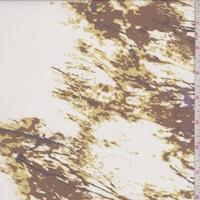Ivory/Camel/Lilac Striated Silk Chiffon