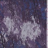 Midnight/Purple/Maroon Striated Silk Chiffon