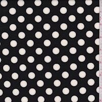 Black/White Polka Dot Ponte Double Knit