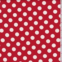 Red/White Polka Dot Ponte Double Knit