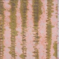 Bright Peach/Olive Diamond/Stripe Lawn