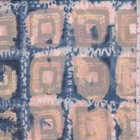 Apricot/Brown Batik Square Lawn