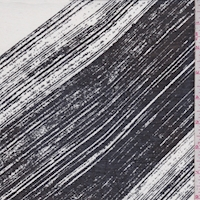 White/Black Brush Stroke Diagonal Stripe Lawn