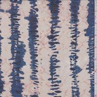 Pink Beige/Ocean Blue Diamond/Stripe Lawn