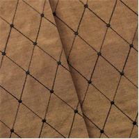 *1 7/8 YD PC--Bronze Brown Diamond Embroidered Drapery Fabric