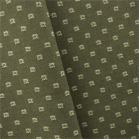 *1 1/8 YD PC--Green/Ivory JR Scott Wool Square Home Decorating Fabric