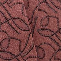 *2 1/4 YD PC--Rose/Black J. R. Scott Wool Abstract Pile Decorating Fabric