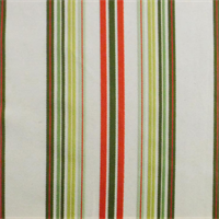*1 7/8 YD PC--White/Red/Green Stripe Home Decorating Fabric