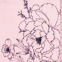 Blush/Black Floral Crepon