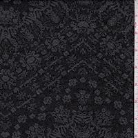 Black/Pewter Embossed Deco Chevron Techno Knit