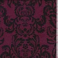 Mulberry/Black Damask Jacquard Double Knit