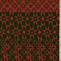 Red/Black Geo Jacquard Double Knit