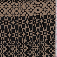 Sandy Tan/Black Geo Jacquard Double Knit