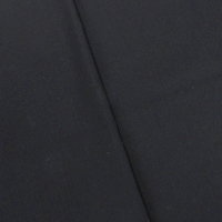 Basic Black Wool Blend Twill Suiting