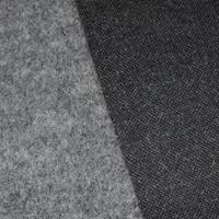 Static Gray One Sided Wool Blend Fleece Knit