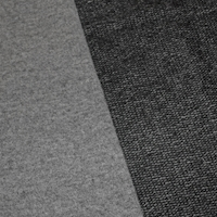 Lead Gray/Black Wool Blend French Terry Knit