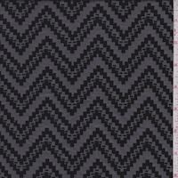 Pewter/Black Jagged Chevron Jacquard Double Knit
