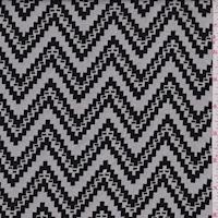 Chalk/Black Jagged Chevron Jacquard Double Knit