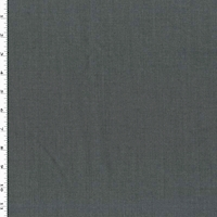 Shadowed Gray Wool Blend Twill Woven Suiting
