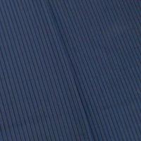 Navy/Ink Blue Striped Stretch Shirting