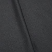 Onyx Black Tropical Wool Blend Crepe Shirting