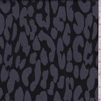 Black/Pewter Animal Print Jacquard Double Knit
