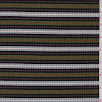 Grass/Navy/Blue Stripe Poor Boy Rib Knit
