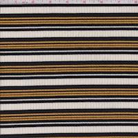 Ivory/Black/Gold Stripe Poor Boy Rib Knit