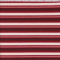 Ivory/Brick/Black Stripe Poor Boy Rib Knit