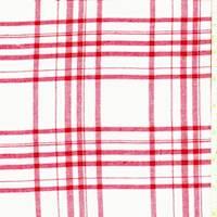 *4 1/2 YD PC--White/Red Plaid Flannel