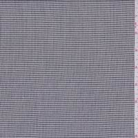 *2 1/8 YD PC--Black/White Gingham Check Lightweight Suiting