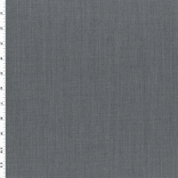 Stone Gray Wool Blend Textured Suiting