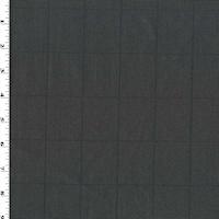 Black/Gray Wool Blend Grid Woven Shirting