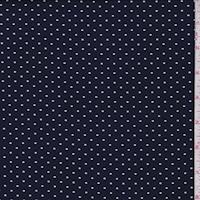 ITY Navy/White Pin Dot Jersey Knit