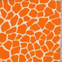 ITY Tangerine/White Giraffe Print Jersey Knit