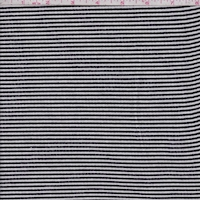 Black/White Stripe Brushed French Terry Knit