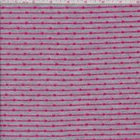 Heather Grey/Pink Geo Stripe French Terry Knit