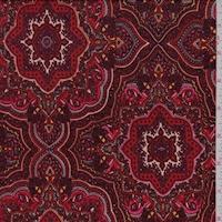ITY Rust/Maroon Mandala Jersey Knit