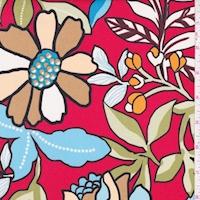 ITY Red/Sage Botanical Jersey Knit