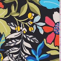 ITY Black/Coral Botanical Jersey Knit