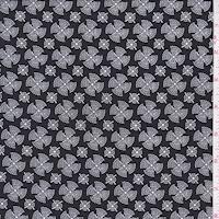 ITY Onyx/White Fan Medallion Jersey Knit