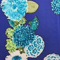 ITY Violet Blue Floral Cluster Jersey Knit