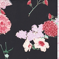 ITY Black Multi Floral Cluster Jersey Knit