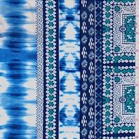 ITY Blue/Navy/Teal Ikat Tile Jersey Knit