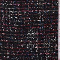 Black Ribbon Stripe Boucle Jacketing