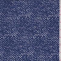 Sapphire/Beige Pebble Crepe Georgette