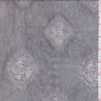 Stone Grey Leno Diamond Rayon Lawn