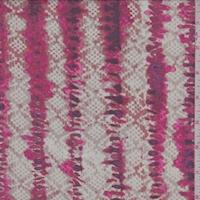 Taupe/Clay/Fuchsia Diamond/Stripe Silk Chiffon