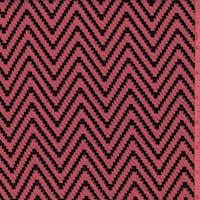 Neon Pink/Black Zig Zag Double Knit